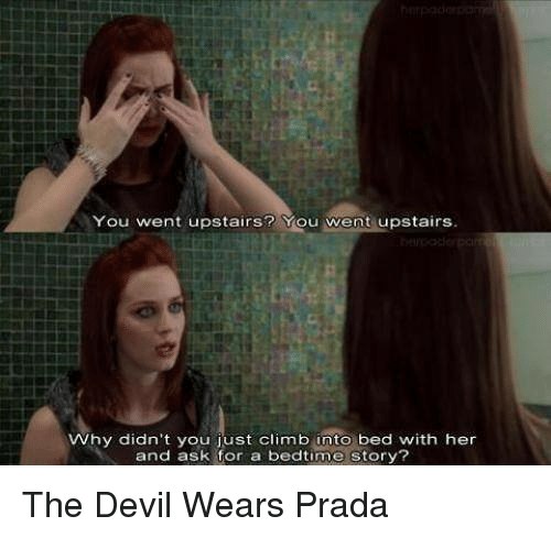 plot of devil wears panda Why did no one ever tell me that 'the devil wears prada' fcking  it up later because the plot requires andy to come to the realization that.