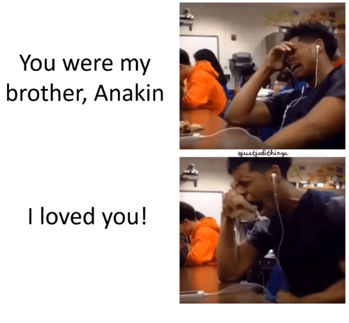 you were my brother anakin: You were my  brother, Anakin  I loved you!