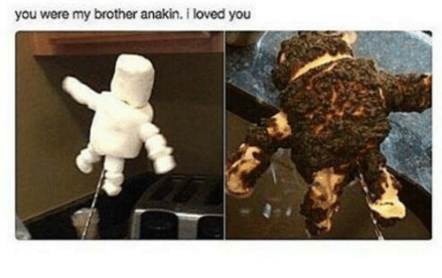 you were my brother anakin: you were my brother anakin. i loved you