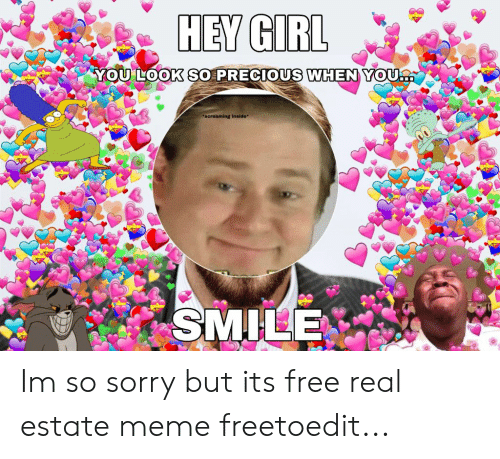 Estate Meme: YOULOOK SO PRECIOUS WHENYOU  screaming inside* Im so sorry but its free real estate meme freetoedit...