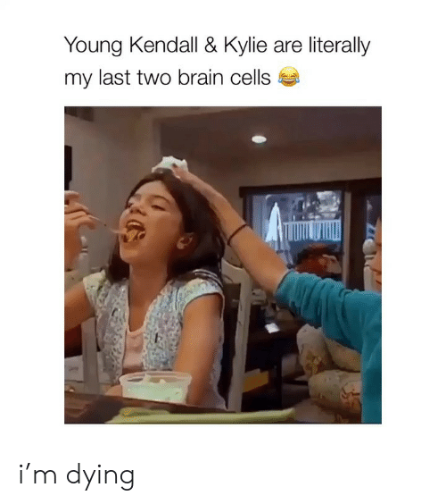 Girl Memes: Young Kendall & Kylie are literally  my last two brain cells i'm dying