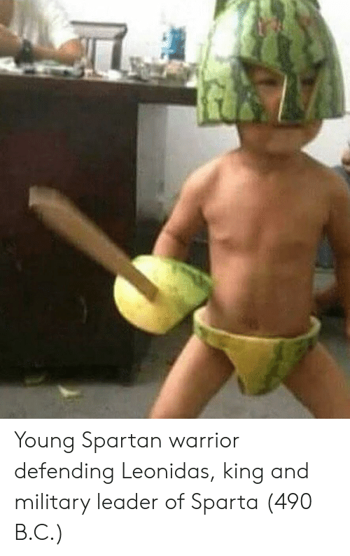 Sparta: Young Spartan warrior defending Leonidas, king and military leader of Sparta (490 B.C.)