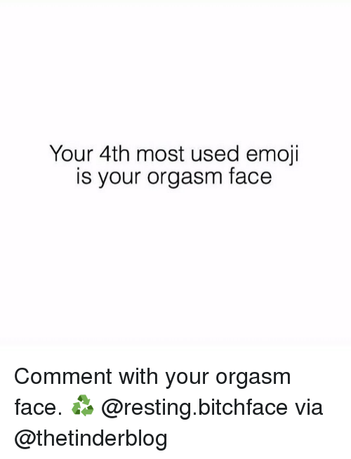 Orgasm face meme