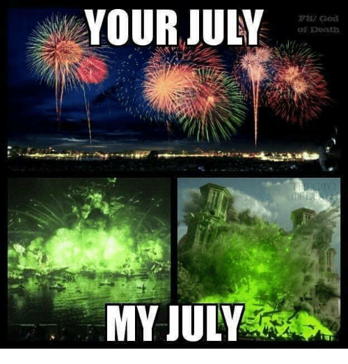 Game of Thrones and Deaths: YOUR JULY  MY JULY  Death