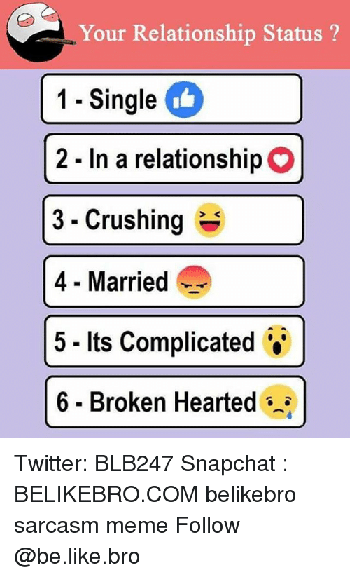 lie in relationship status its complicated