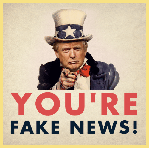 Faking News: YOU'RE  AR WERS  FAKE NEWS!