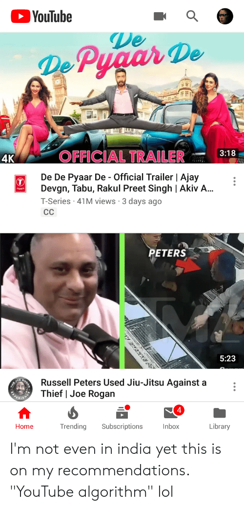 """tabu: YouTube  De  De PyaarDe  3:18  4K  OFFICIAL TRAILER  De De Pyaar De - Official Trailer 