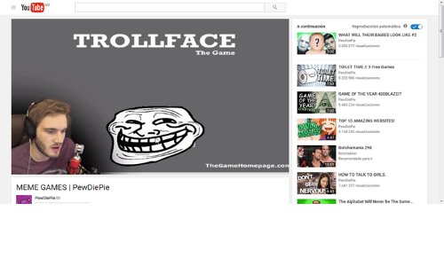 Baby, It's Cold Outside, Meme, and Memes: YouTube  TROLL FACE  The Game  The GameHomepage.co  MEME GAMES PewDiePie  Reproduccion automatica  WHAT WILL THEIR BABIES Look LIKE r2  TOILET TIME Free Games  ME  GAME OF THE YEAR 420BLAZEIT  OF THE  YEAR  9483234 visullaaciones  TOP 10  AMAZINGWEBSITES1  Botchamania 298  Recomendado parati  7641330 visualizaciones  The Alphabet WilNever Be The Same..