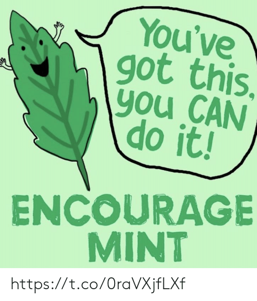 Youve Got: You've  got this.  \you CAN  do it!  ENCOURAGE  MINT https://t.co/0raVXjfLXf