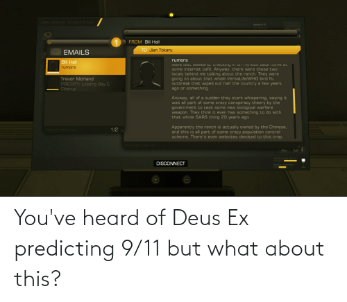 deus: You've heard of Deus Ex predicting 9/11 but what about this?