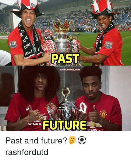 Memes, 🤖, and Mufc: YS  PAST  ANGEL GOMES MUFC  m FUTURE  HENRL FT Past and future?🤔⚽ rashfordutd