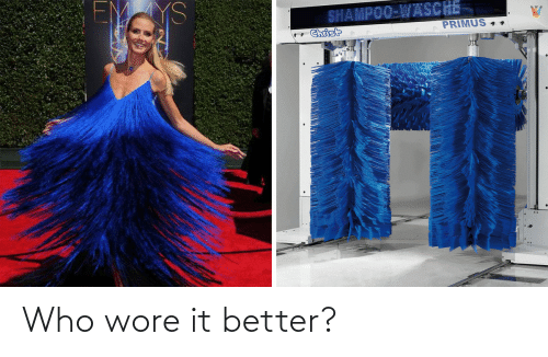 Wore: YS  SHAMPOO-WASCHE  PRIMUS 4.  Christ Who wore it better?