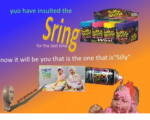 "yuo: yuo have insulted the  for the last time  now it will be you that is the one that is""Silly""  Wash"