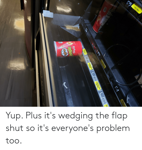 flap: Yup. Plus it's wedging the flap shut so it's everyone's problem too.
