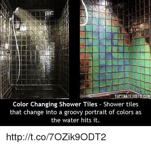 How To Change Bathroom Tiles: YUPTHATEXISTSHON Color Changing Shower Tiles Shower Tiles