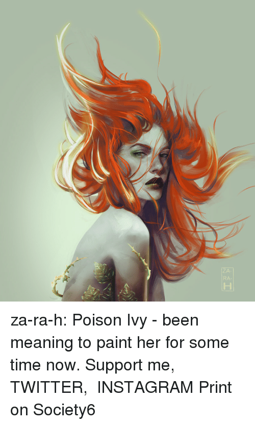 akira: za-ra-h: Poison Ivy - been meaning to paint her for some time now.  Support me,  TWITTER,  INSTAGRAM Print on Society6
