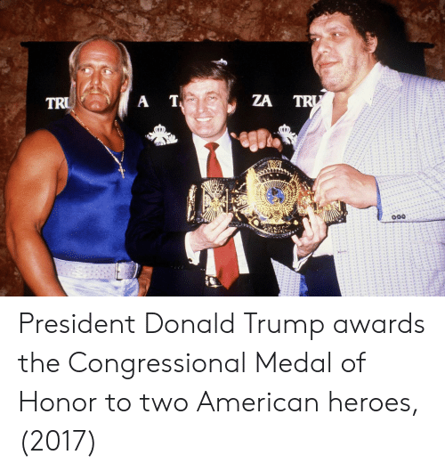 medal of honor: ZA TR President Donald Trump awards the Congressional Medal of Honor to two American heroes, (2017)