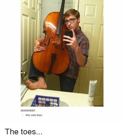 Trendy, Cello, and Why: zanetehaiden  Why cello there The toes...