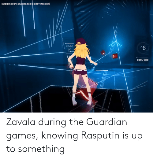 Guardian: Zavala during the Guardian games, knowing Rasputin is up to something