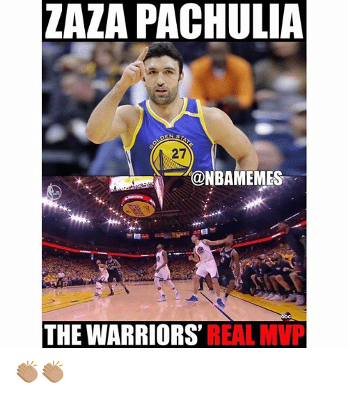 Nba, Warriors, and The Warriors: ZAZA PACHULIA  EN ST  27  @NBAMEMEST  THE WARRIORS  REAL MVP 👏🏽👏🏽