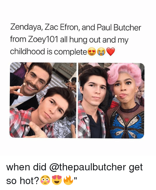"""Zendaya: Zendaya, Zac Efron, and Paul Butcher  from Zoey101 all hung out and my  childhood is complete when did @thepaulbutcher get so hot?😳😍🔥"""""""