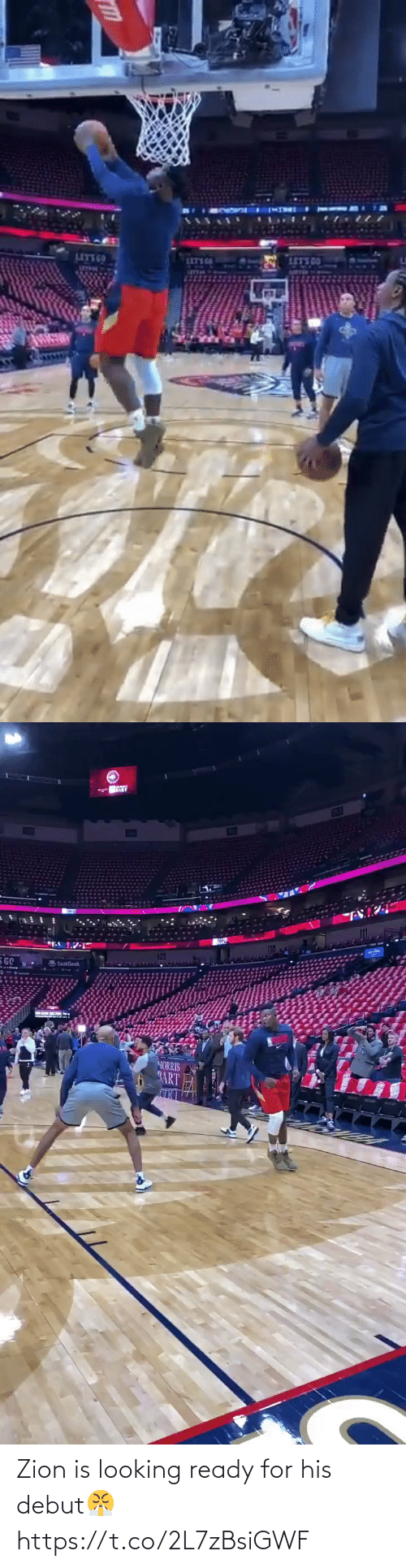 debut: Zion is looking ready for his debut😤 https://t.co/2L7zBsiGWF