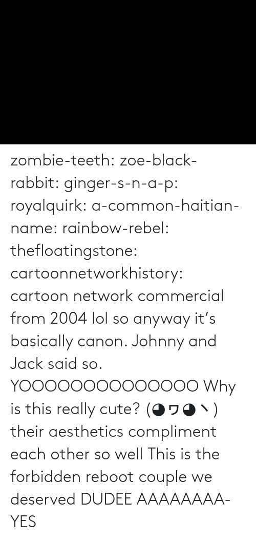 Cartoon: zombie-teeth:  zoe-black-rabbit:   ginger-s-n-a-p:  royalquirk:  a-common-haitian-name:  rainbow-rebel:   thefloatingstone:  cartoonnetworkhistory: cartoon network commercial from 2004 lol so anyway it's basically canon. Johnny and Jack said so.    YOOOOOOOOOOOOOO    Why is this really cute? (◕ヮ◕ヽ)  their aesthetics compliment each other so well    This is the forbidden reboot couple we deserved    DUDEE AAAAAAAA-    YES