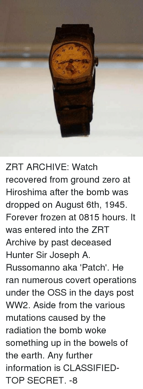 25 best memes about ground zeroes ground zeroes memes frozen memes and zero zrt archive watch recovered from ground zero at malvernweather Gallery
